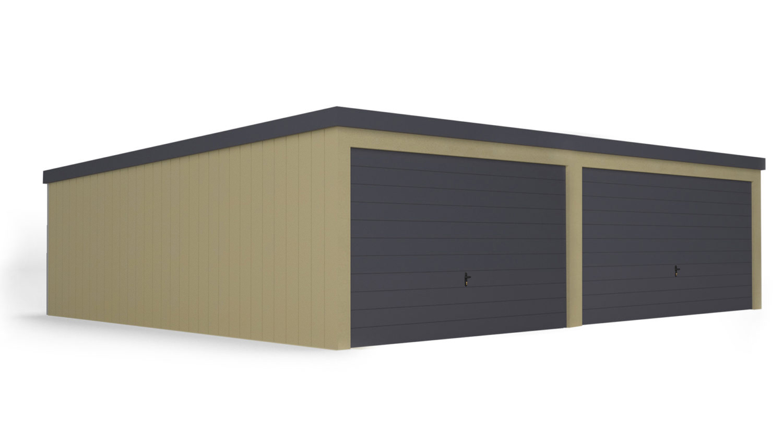 Garaż panel tynk